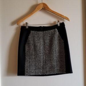 J Crew Black Wool Mini Skirt
